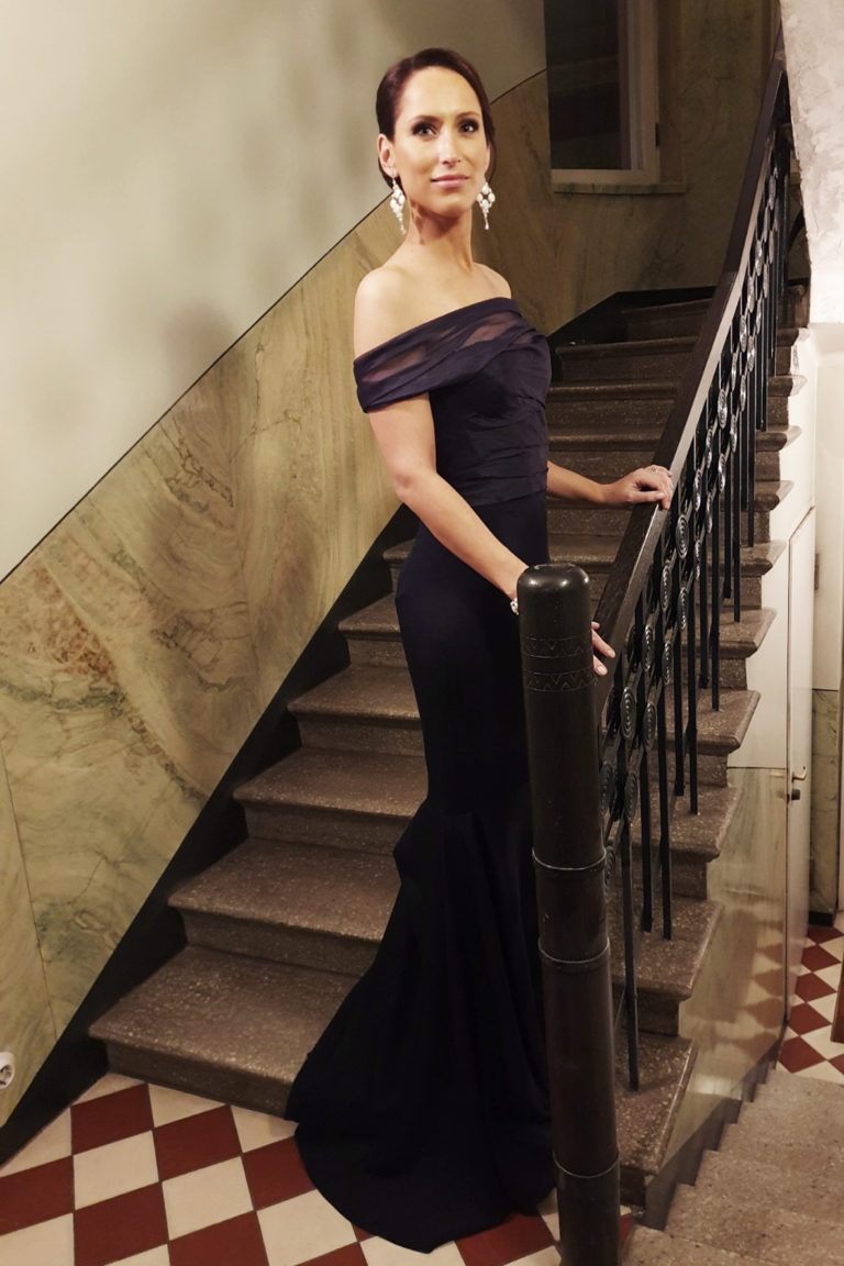 Independence Day Gala 2019, Navy Mermaid dress