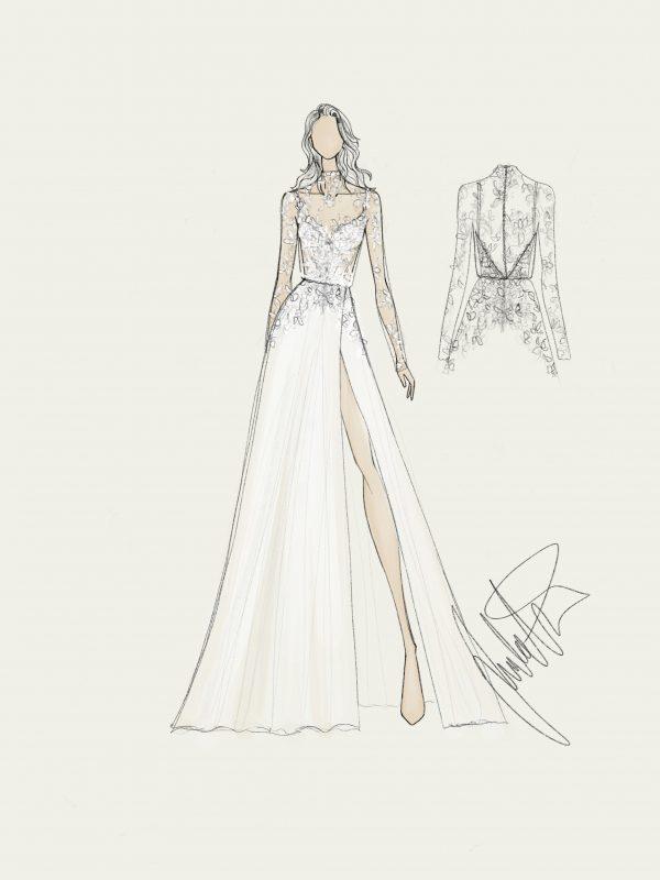 Bridal Gown SKetch Juulia Peuhkuri