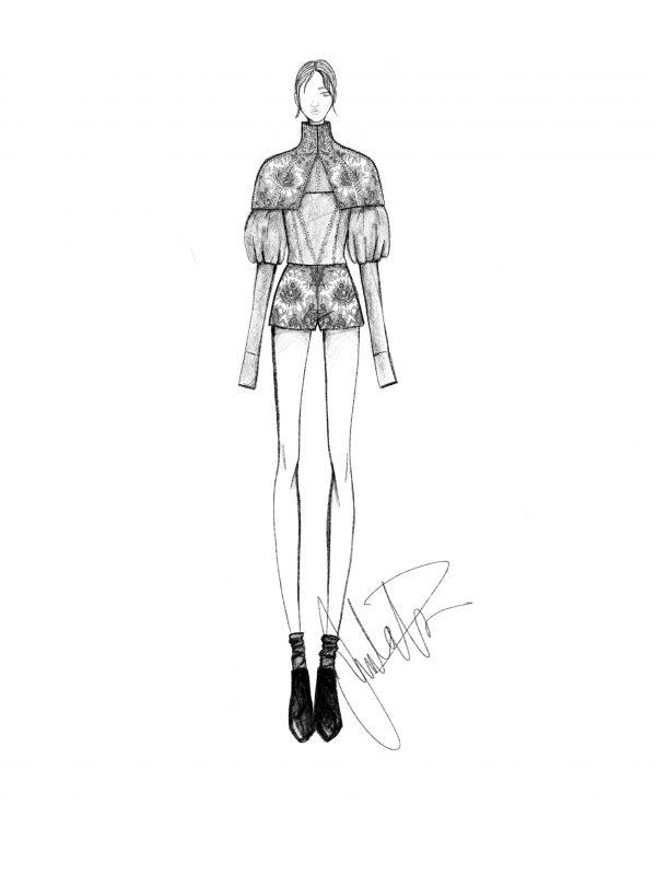 Vera Wang RTW Spring 2019 fashion sketch Juulia Peuhkuri