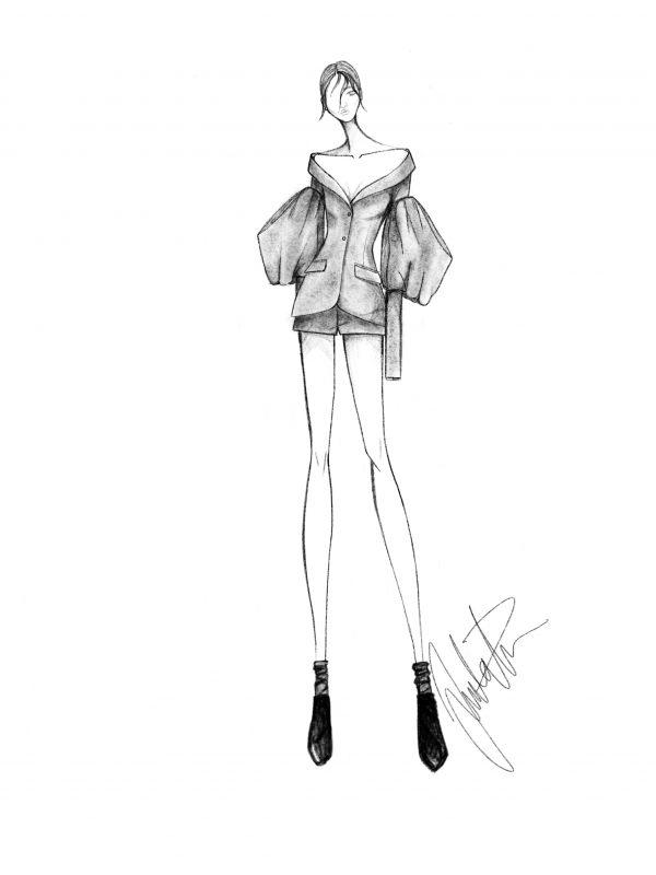 Vera Wang RTW spring 2019 sketch Juulia Peuhkuri